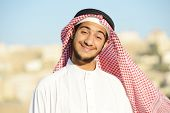 picture of middle eastern culture  - Positive Middle eastern young guy - JPG