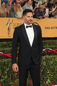 LOS ANGELES - JAN 25:  Joe Manganiello at the 2015 Screen Actor Guild Awards at the Shrine Auditorium on January 25, 2015 in Los Angeles, CA