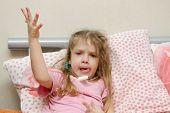 Diseased Little Girl In A Bad Mood