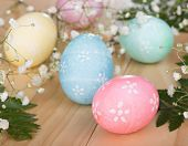 Group Of Colored Easter Eggs