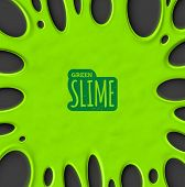 picture of toxic substance  - Green slime background - JPG