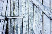 White Cracked Fence