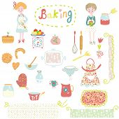 Baking design elements - cute and funny