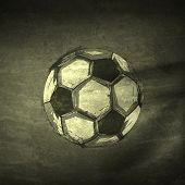 Sketch ink Soccer ball, easy editable