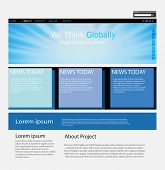 Website blue concept, you can easy all editable