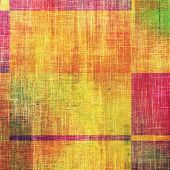 Aging grunge texture, old illustration. With different color patterns: yellow (beige); pink; red (orange); green