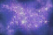 Abstract violet sparkling mosaic background.