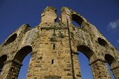 foto of aqueduct  - Aqueduct located in the ancient city of Aspendos in Antalya in Turkey - JPG