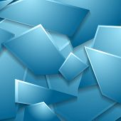 Blue geometric shapes background. Vector design