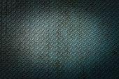 Blue Metal Rhombus Shaped Texture