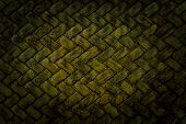 Green Basket Weave Pattern