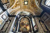 Interiors of Saint Charles Borromee church, Anvers, Belgium