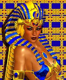 stock photo of pharaohs  - Cleopatra or any Egyptian Woman Pharaoh - JPG