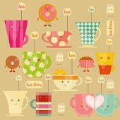 image of tea party  - Tea Time Icons Set - JPG