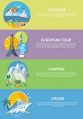 picture of passenger ship  - European traveling tour on banner - JPG