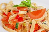 picture of pasta  - Penne pasta with parmesan cheese - JPG