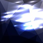 image of cosmic  - Dark blue geometric abstract triangle cosmic shiny background backdrop for presentation - JPG