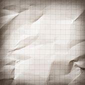 foto of grids  - Crumpled gray blank math - JPG