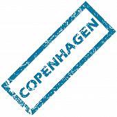 stock photo of copenhagen  - Vector blue rubber stamp with city name Copenhagen - JPG