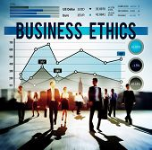 stock photo of integrity  - Business Ethnics Ideology Integrity Legal Concept - JPG