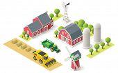 foto of house representatives  - Isometric icons representing farm setting - JPG