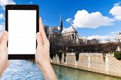 stock photo of notre dame  - travel concept  - JPG