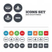 foto of safety  - Fasten seat belt icons - JPG