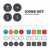picture of barbershop  - Scissors icons - JPG