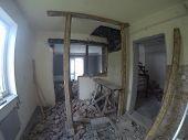 image of messy  - messy room in repairing house - JPG