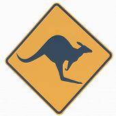 Australian Kangaroo Sign
