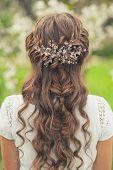 stock photo of braids  - Girl with beautiful  braid hairstyle - JPG
