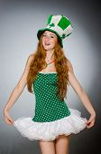 pic of saint patrick  - Woman in saint patrick concept - JPG