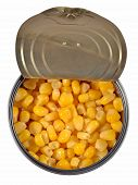 picture of cans  - Canned sweet corn in a tin can - JPG