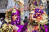 foto of venice carnival  - Carnival of Venice beautiful masks at St. Mark