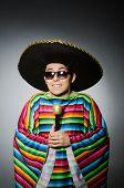 image of karaoke  - Funny mexican singing in karaoke - JPG
