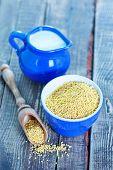 picture of porridge  - millet porridge in bowl and on a table - JPG