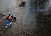 Couple Canoing