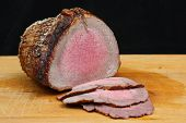 Rare roast beef joint