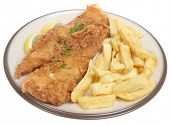 Deep fried fish and chips.