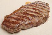 Sirloin steak resting