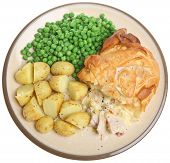 Chicken pie  with filo pastry