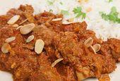 Lamb Rogan Josh Indian curry with pilau rice
