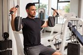 Athletic Man Building Some Muscle poster