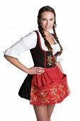 Woman Wearing Dirndl