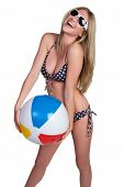 Isolated Beach Ball Girl