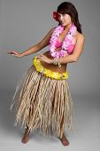 stock photo of hawaiian girl  - Beautiful hawaiian hula dancer girl - JPG