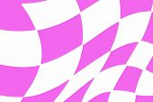 Pink And White Checkered Racing Flag