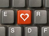 stock photo of valentine love  - keyboard  - JPG