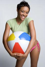 pic of beach-ball  - Beach Ball Girl - JPG