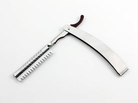 picture of barber razor  - photo of a feathering or straight razor - JPG